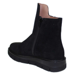 KALENA'S Suede Ankle Boot with 2 Zippers
