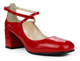 CARMEN Patent leather with strap and 2' heel