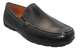 Geox Casual Moccasin Slip-On Black Angled