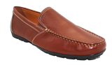 Geox Casual Moccasin Slip-On Brown Angled