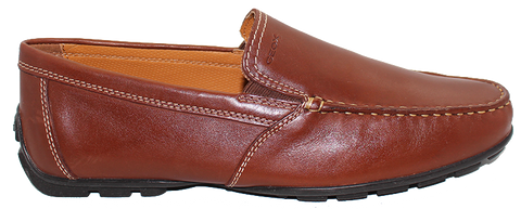 Geox Casual Moccasin Slip-On Brown Side