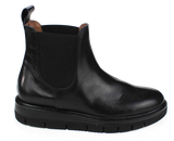 Black Leather Pull-On Boot - KALENA's Shoes