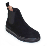 Black Suede Pull-On Boot - KALENA's Shoes