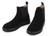 Black Suede Pull-On Boot