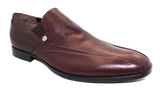 Vittorio Virgili High Cut Slip-On Shoe Burgundy Angled
