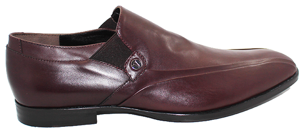 Vittorio Virgili High Cut Slip-On Shoe Burgundy Side