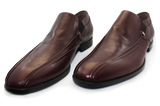 Vittorio Virgili High Cut Slip-On Shoe Burgundy Pair