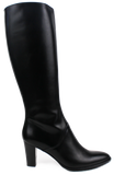 XSA - Med Heeled Knee High Leather Boots