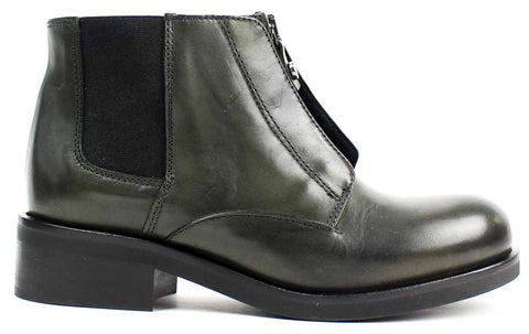 KALENA'S - Green Pull-On Leather Boots - KALENA's Shoes