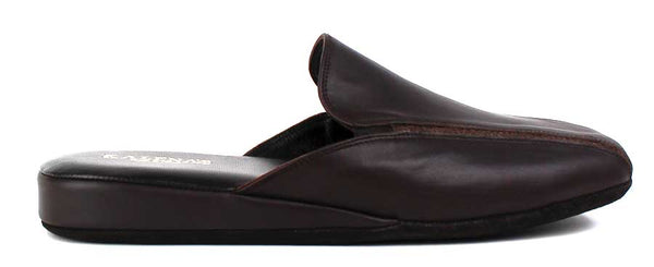 KALENA'S - Mens Leather Slip On Slippers - KALENA's Shoes