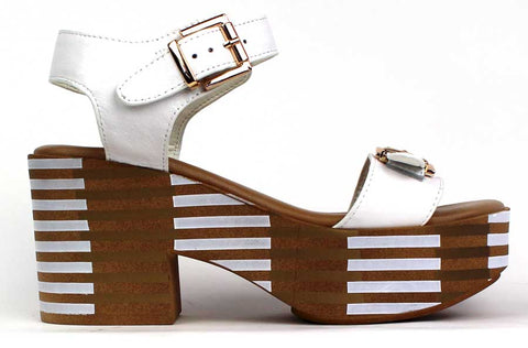 KALENA'S - Open-Toe Wedge Sandal with Ankle Strap - KALENA's Shoes