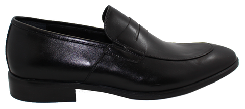 Fontana Men's Leather Slip-On Black Side
