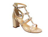 KALENA'S - T-Strap Sandal with Pearls