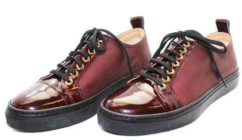 Lade Doc Lace-Up Sneaker Burgundy Pair