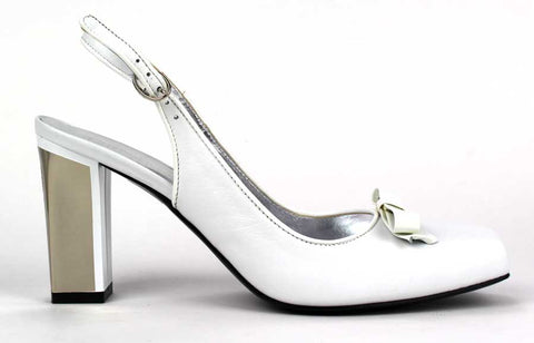 KALENA'S - Leather Pump with 4 Inch Heel and Ankle Strap - KALENA's Shoes