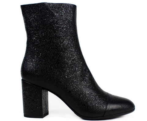 XSA - ALEXANDRA - Stamped Leather Mid Ankle Boot - KALENA's Shoes