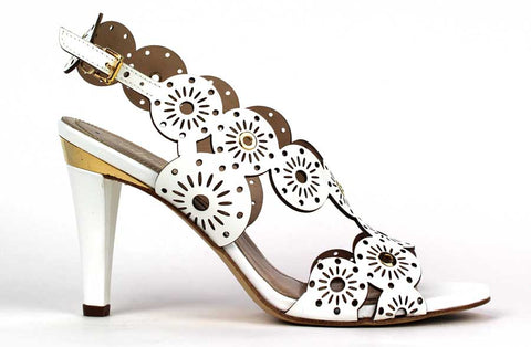 KALENA'S - 4 Inch Heel with Flower Design - KALENA's Shoes