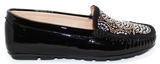 Kalena's Patent Leather Moccasin Black Side