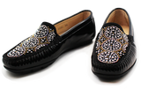 Kalena's Patent Leather Moccasin Black Pair