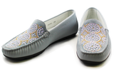 Kalena's Patent Leather Moccasin Blue Pair