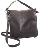 Sara Burglar Leather Crossbody Bag Brown Front