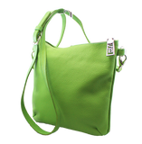 Sara Burglar Leather Crossbody Bag Green