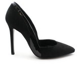 Carmen Suede High Heel Pump Black Side