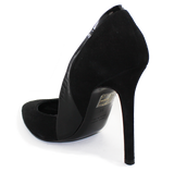Carmen Suede High Heel Pump Black Heel