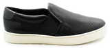 Geox Casual Flat Slip-On Shoe Black Side