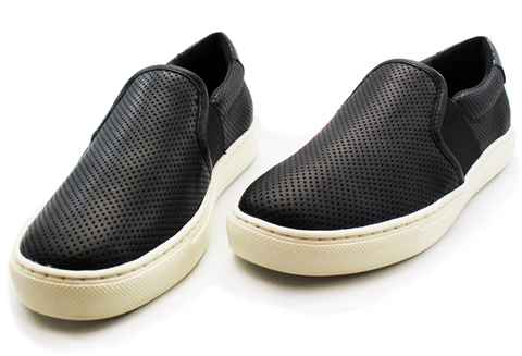Geox Casual Flat Slip-On Shoe Black Pair
