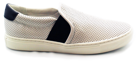 GEOX - Leather Slip-Ons with Holes & Rubber Sole - KALENA's Shoes