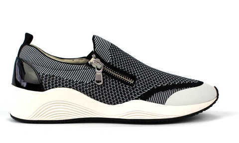 GEOX - Slip-On Sneaker with Zipper - KALENA's Shoes