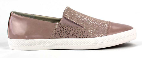 GEOX - Flat Casual Slip-On with Animal Print Detail - KALENA's Shoes