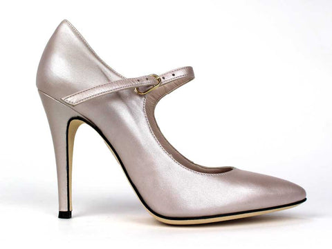 CARMEN'S - 4 Inch Heel Champagne Tone - KALENA's Shoes