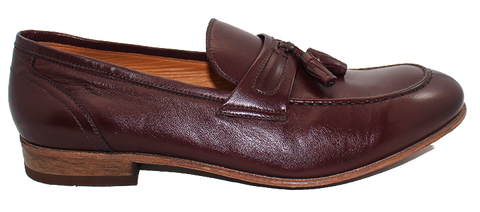 Doucal's Slip-On Shoe With Tassel Burgundy Side