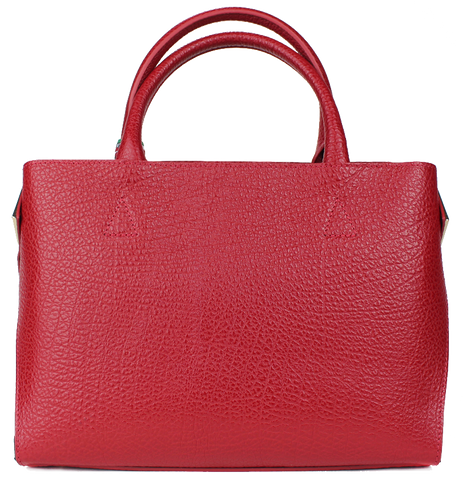SARA BURGLAR - Red & Black Leather Handbag - KALENA's Shoes