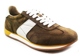 GEOX Casual Lace-Up Sneaker Brown Angled