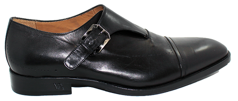 Vittorio Virgili Slip-On Shoe with Side Buckle Black Side