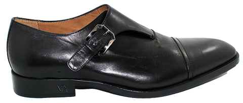 Vittorio Virgili Leather Slip-On With Buckle Black Side