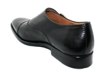 Vittorio Virgili Slip-On Shoe with Side Buckle Black Heel