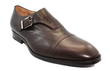 Vittorio Virgili Leather Slip-On With Buckle Brown Angled