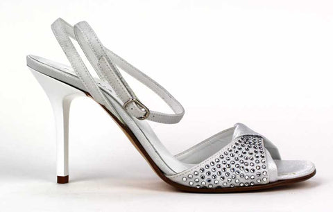 KALENA'S - 4 Inch Heel with Rhinestone Detail - KALENA's Shoes