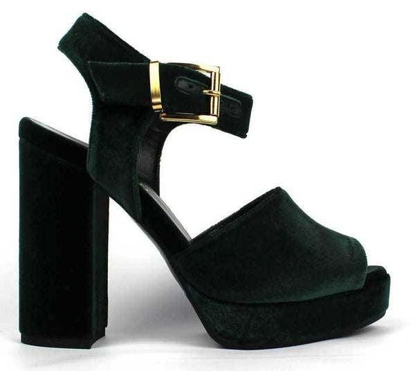 CARMEN - Suede Sandals with 4 inch Heel. - KALENA's Shoes