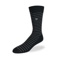 Men's Dress Sock - Black & White Stripes