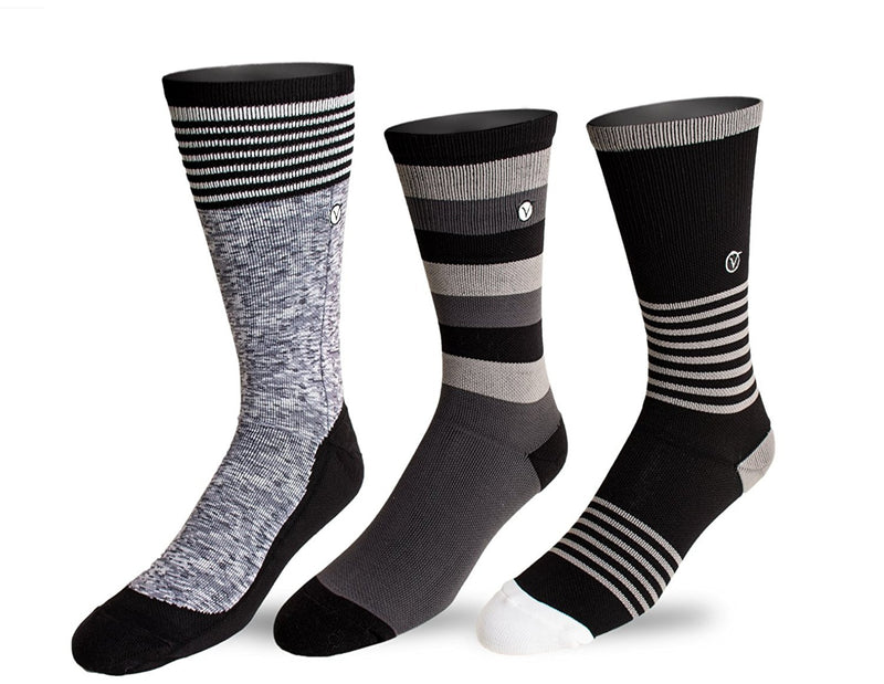 Youth 3 Pack Crew / Athletic Socks (Grey)