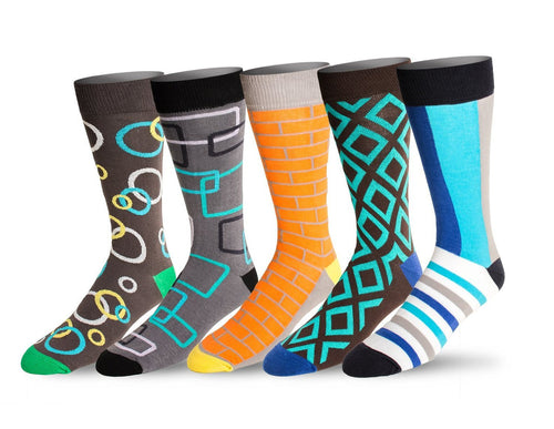 Men's 5 Pack Crew / Dress Socks (Combo 5)