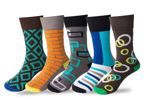Boys 5 Pack Crew / Dress Socks (Combo 2)