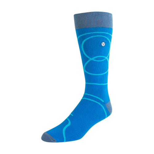 Men's Dress Sock - Blue Swirls