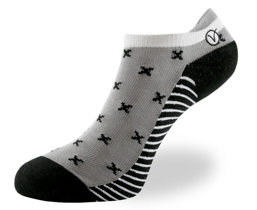 Women's Low Cut Sock - Gray T-Pattern