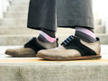 Men's Dress Sock - Pink & Black Block